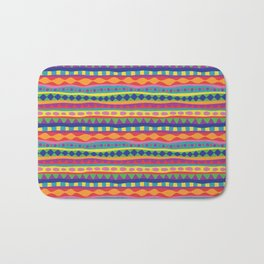 Stripey-Crayon Colors Bath Mat