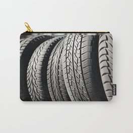 used black tires in row Carry-All Pouch
