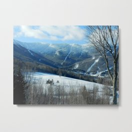 Ski Trails at Sugarbush Resort, Vermont Metal Print