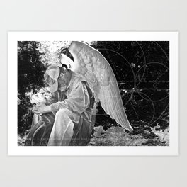 A Very Old Man with Enormous Wings Art Print