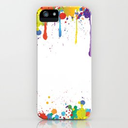 Paint Watercolor Splatter iPhone Case