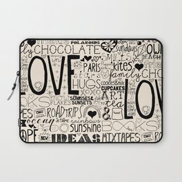 50 Reasons To Be Happy Laptop Sleeve