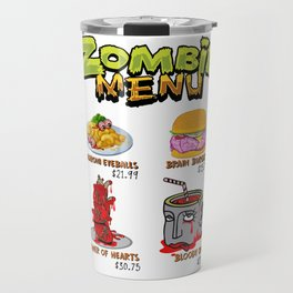 Zombie Menu Funny Halloween Dishes for Zombie Lover Light Travel Mug