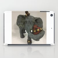 steam punk iPad Cases featuring Steam Punk Elephant by Lily Dee Designs