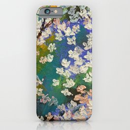 Sakura Oil Painting iPhone Case