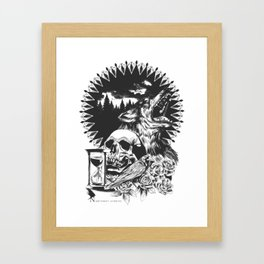 The Cycle Of Death Framed Art Print
