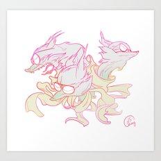 TriFoxx Art Print