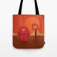 spaceman Tote Bags featuring Spaceman by Eric Koschnick