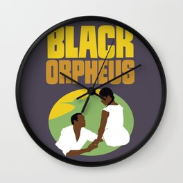 Black Orpheus Wall Clock