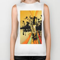 saxophone Biker Tanks featuring Saxophone by nicky2342