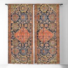 Hamadan  Antique West Persian Rug Print Blackout Curtain