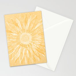 Mandala, Sunflower Prints, Yellow Stationery Cards