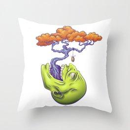 Bonsai-head Throw Pillow