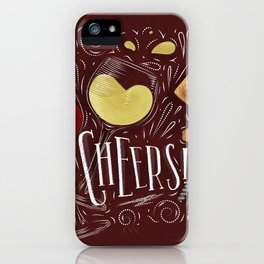 Cheers red iPhone Case