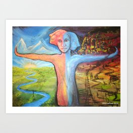 Truth & Consequences  Art Print