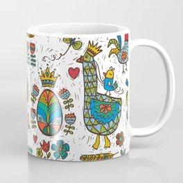 Swedish Folk Art Goose Fable Coffee Mug