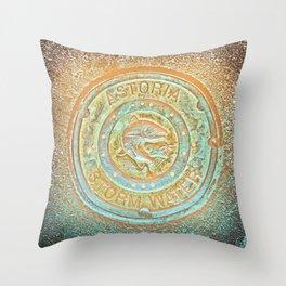 Astoria Storm Water, Psycedelic Throw Pillow