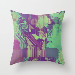 Glitchy 1 Throw Pillow
