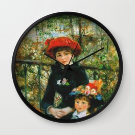 Auguste Renoir - On The Terrace Wall Clock