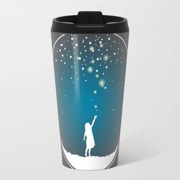 Christmas Girl Snowball - Make a Wish Travel Mug