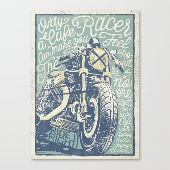 Feel the Road with a Cafe Racer Canvas Print