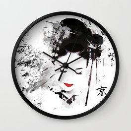 Kyoto Geisha Wall Clock