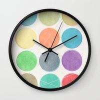dots Wall Clocks featuring dots by Mareike Böhmer