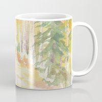 forrest Mugs featuring Forrest by Susie McColgan