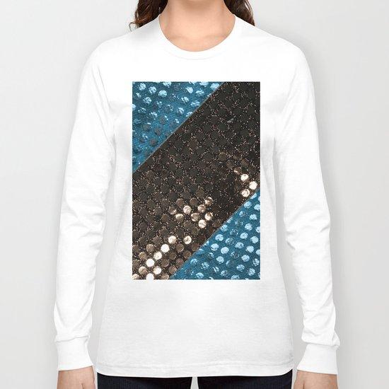 Shiny glitter #3 #Mixed #Black #Aqua #decor #art #society6 Long Sleeve T-shirt