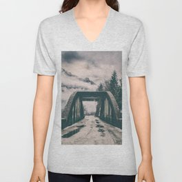 Silence bridge Unisex V-Neck