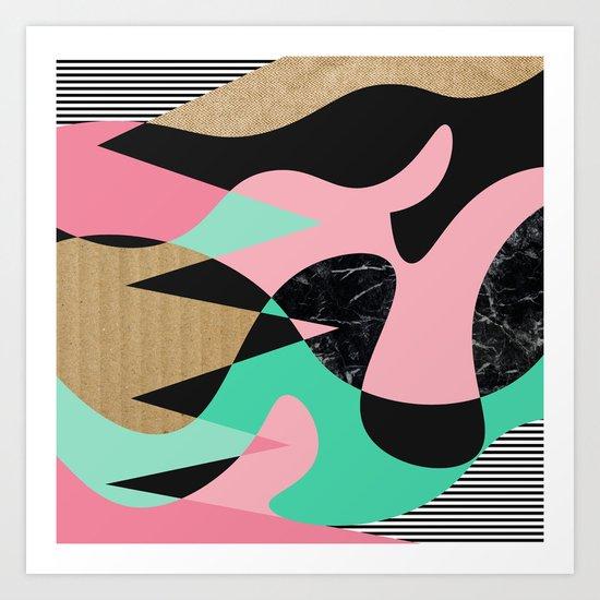 Shapes_Textures_Stripes Art Print