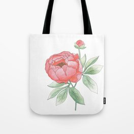 Peony from my Garden Tote Bag