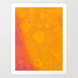 Fruit Sunset Art Print