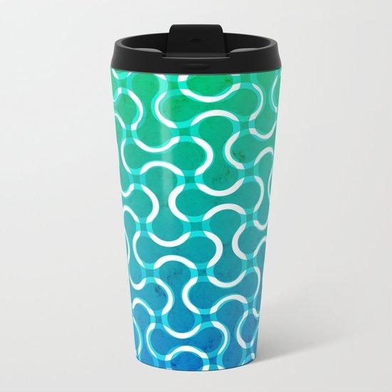 Motherboard Lines Metal Travel Mug