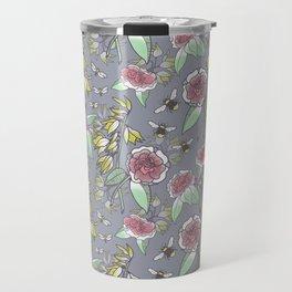 Spring Camellias and Yuccas Travel Mug