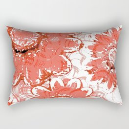Big Flowers In Shades Of Peach Rectangular Pillow