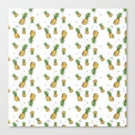 Small Pineapple Pattern Canvas Print