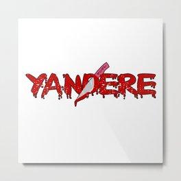 Yandere Cosplay Anime Senpai Metal Print