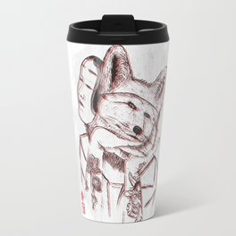 Kitsune Portrait Travel Mug