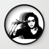 lindsay lohan Wall Clocks featuring Lindsay Lohan. by 161926