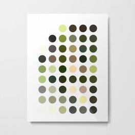 Cactus Garden Dots Metal Print
