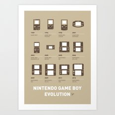 My Evolution Nintendo game boy minimal poster Art Print