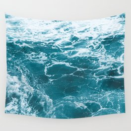 Tropic Beach Ocean Waves Wall Tapestry