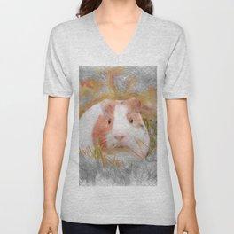 Artistic Animal Guinea Pig 2 Unisex V-Neck