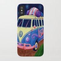 hippie iPhone & iPod Cases featuring Hippie Van by whiterabbitart