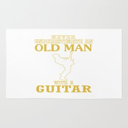 Old Man - With A Guitar Rug