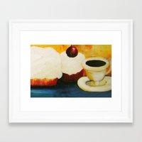 dessert Framed Art Prints featuring Dessert! by Jennifer Maroney