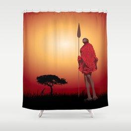Masai & Africa Shower Curtain