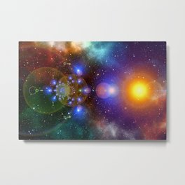 Galaxy Abstract Background 2 Metal Print