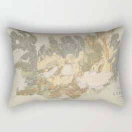 Vintage Geological Map of Iceland (1901) Rectangular Pillow